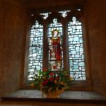 St Lawrence Window with flowers